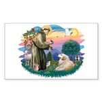 St. Fran #2/ Great Pyrenees (#2) Sticker (Rectangl