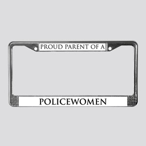 Proud Parent: Policewomen License Plate Frame