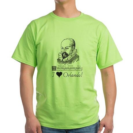 I Love Orlando Green T-Shirt