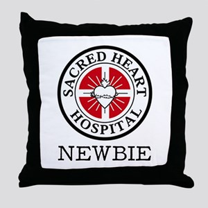 'Sacred Heart Newbie' Throw Pillow