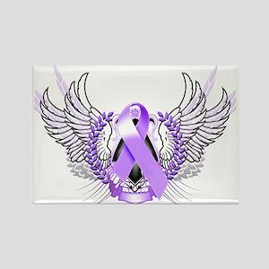 Awareness Tribal Purple Rectangle Magnet