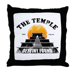 Vintage Temple Throw Pillow