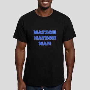 Matzoh Man Passover Men's Fitted T-Shirt (dark)