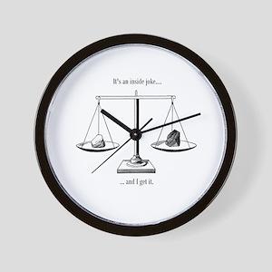 Inside Joke Wall Clock