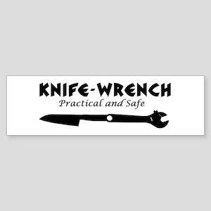 'Knife-Wrench' Sticker (Bumper)