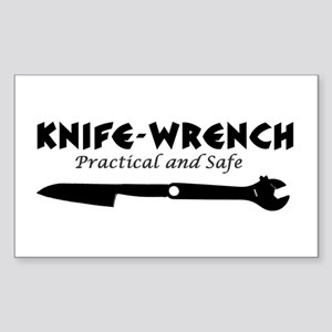 'Knife-Wrench' Sticker (Rectangle)