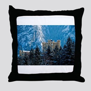 Medieval Castle (Hohenschwang Throw Pillow