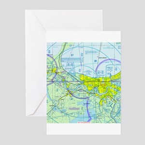 MSY Sectional Chart Greeting Cards (Pk of 20)