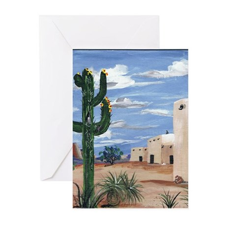 Adobe with Cactus Greeting Cards (Pk of 10)