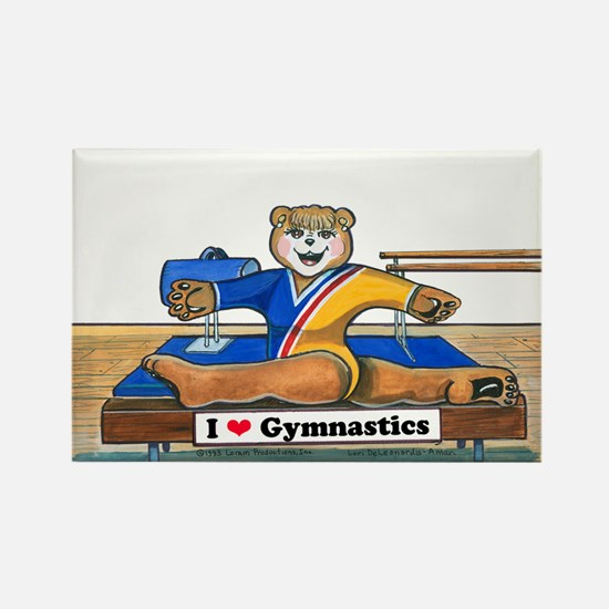 Female Gymnast Rectangle Magnet