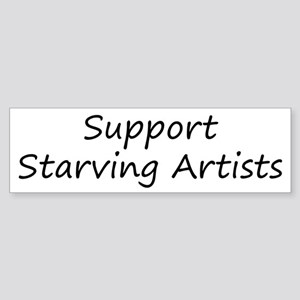 Support Starving Artists Sticker (Bumper)