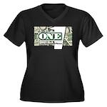 Women's Plus Size V-Neck T-Shirt (black) 3