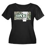 Women's Plus Size Scoop Neck T-Shirt (black) 3
