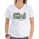 Women's V-Neck T-Shirt (white) 3