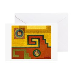 Aztec Design 1 Greeting Cards (Pk of 10)