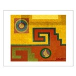 Aztec Design 1 Small Poster