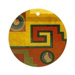 Aztec Design 1 Ornament (Round)