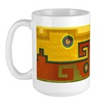 Aztec Design 1 Large Mug