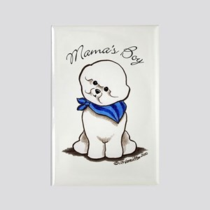 Bichon Mama's Boy Rectangle Magnet