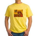 Aztec Design 1 Yellow T-Shirt