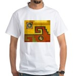 Aztec Design 1 White T-Shirt