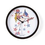 4th of July Martini Girl Wall Clock