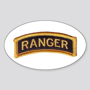 Ranger Tab Black & Gold Sticker (Oval)