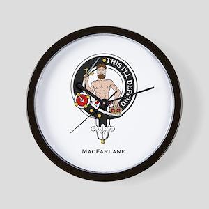 MacFarlane Clan Crest Badge Wall Clock