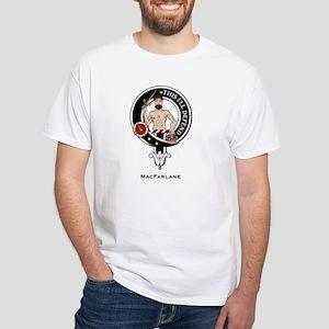MacFarlane Clan Crest Badge White T-Shirt