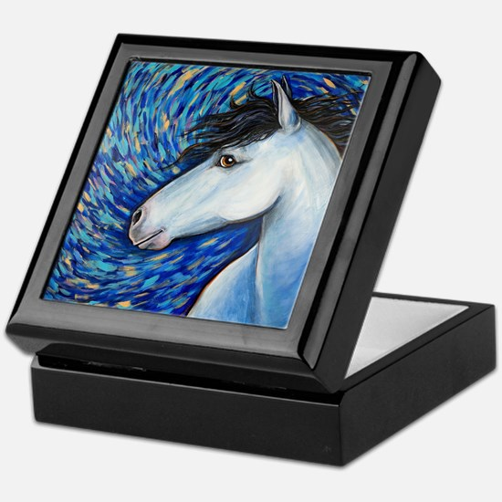 "White Horse ""Bianca"" Keepsake Box"