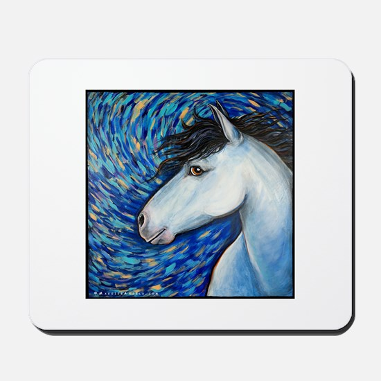 "White Horse ""Bianca"" Mousepad"
