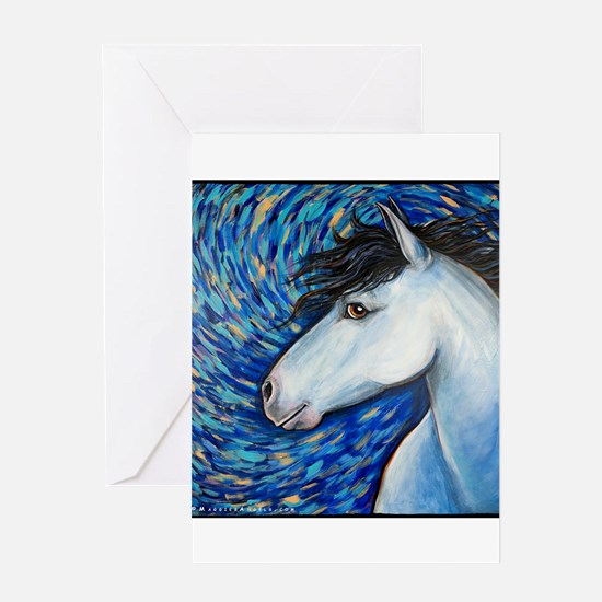 "White Horse ""Bianca"" Greeting Card"