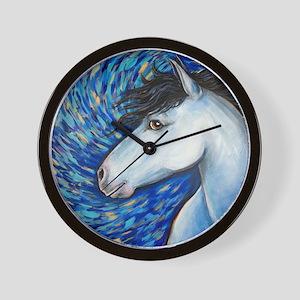 "White Horse ""Bianca"" Wall Clock"