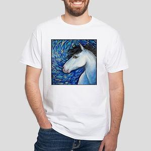 """White Horse """"Bianca"""" White T-Shirt"""