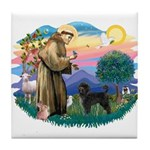 St Francis #2 / PWD (stand) Tile Coaster