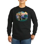 St Francis #2 / PWD (stand) Long Sleeve Dark T-Shi