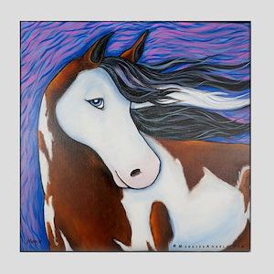 """Paint Horse """"Luna"""" Tile Coaster"""