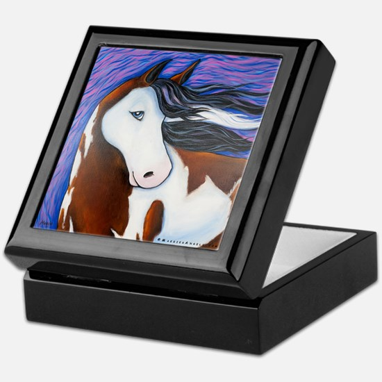 "Paint Horse ""Luna"" Keepsake Box"