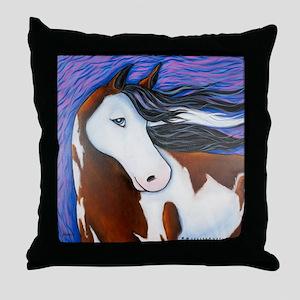 """Paint Horse """"Luna"""" Throw Pillow"""