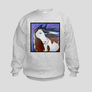 "Paint Horse ""Luna"" Kids Sweatshirt"
