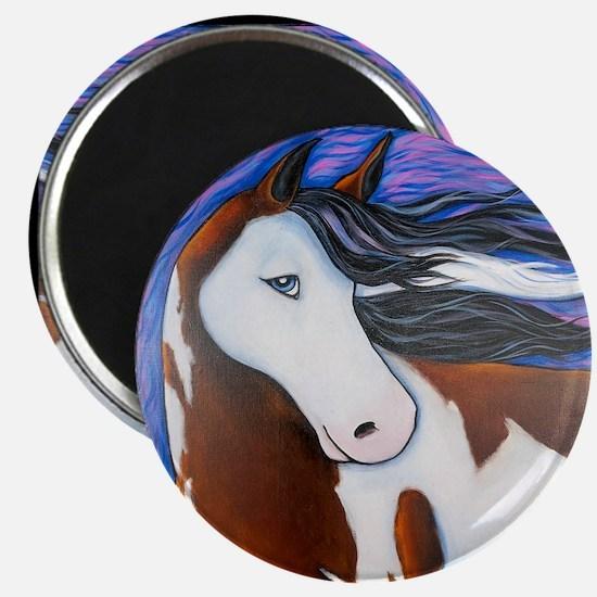 """Paint Horse """"Luna"""" Magnet"""