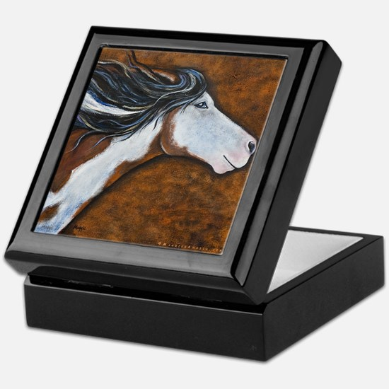 "Paint Horse ""Golden Luna"" Keepsake Box"