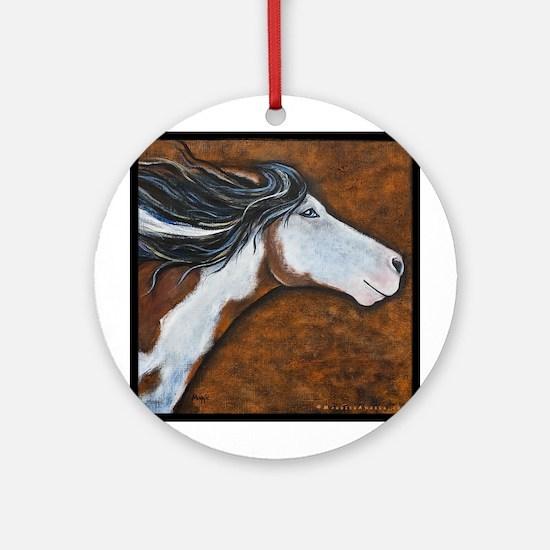 """Paint Horse """"Golden Luna"""" Ornament (Round)"""