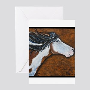 "Paint Horse ""Golden Luna"" Greeting Card"