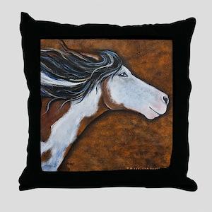 """Paint Horse """"Golden Luna"""" Throw Pillow"""