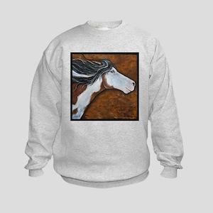 """Paint Horse """"Golden Luna"""" Kids Sweatshirt"""