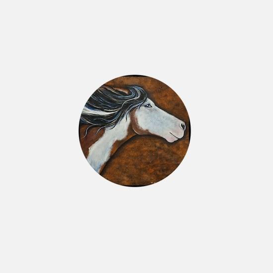 """Paint Horse """"Golden Luna"""" Mini Button"""