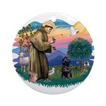 St Francis #2 / PWD (sit) Ornament (Round)