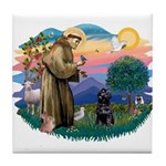 St Francis #2 / PWD (sit) Tile Coaster