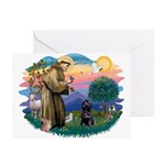 St Francis #2 / PWD (sit) Greeting Cards (Pk of 10